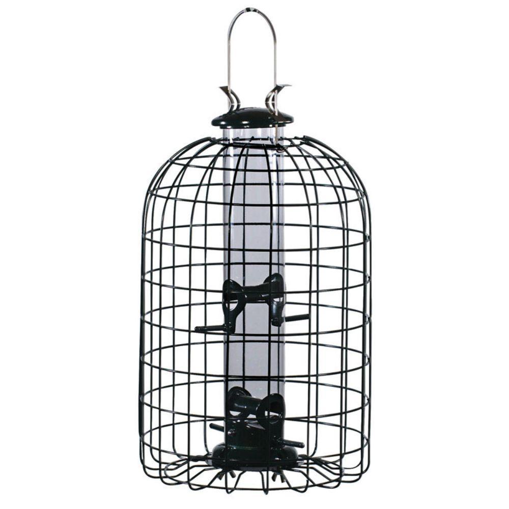 Wild Bird Caged Tube Bird Feeder (4-Ports)