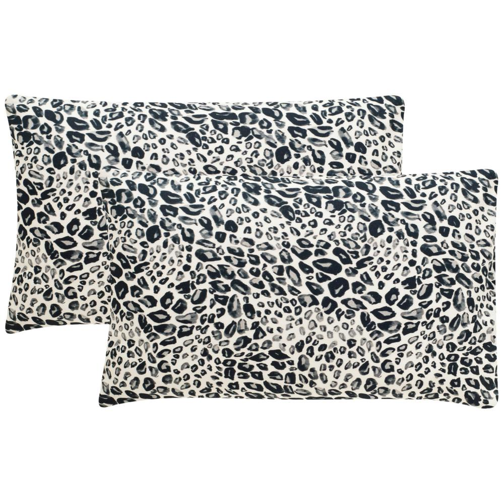 Safavieh Satin Leopard Printed Patterns Pillow (2-Pack