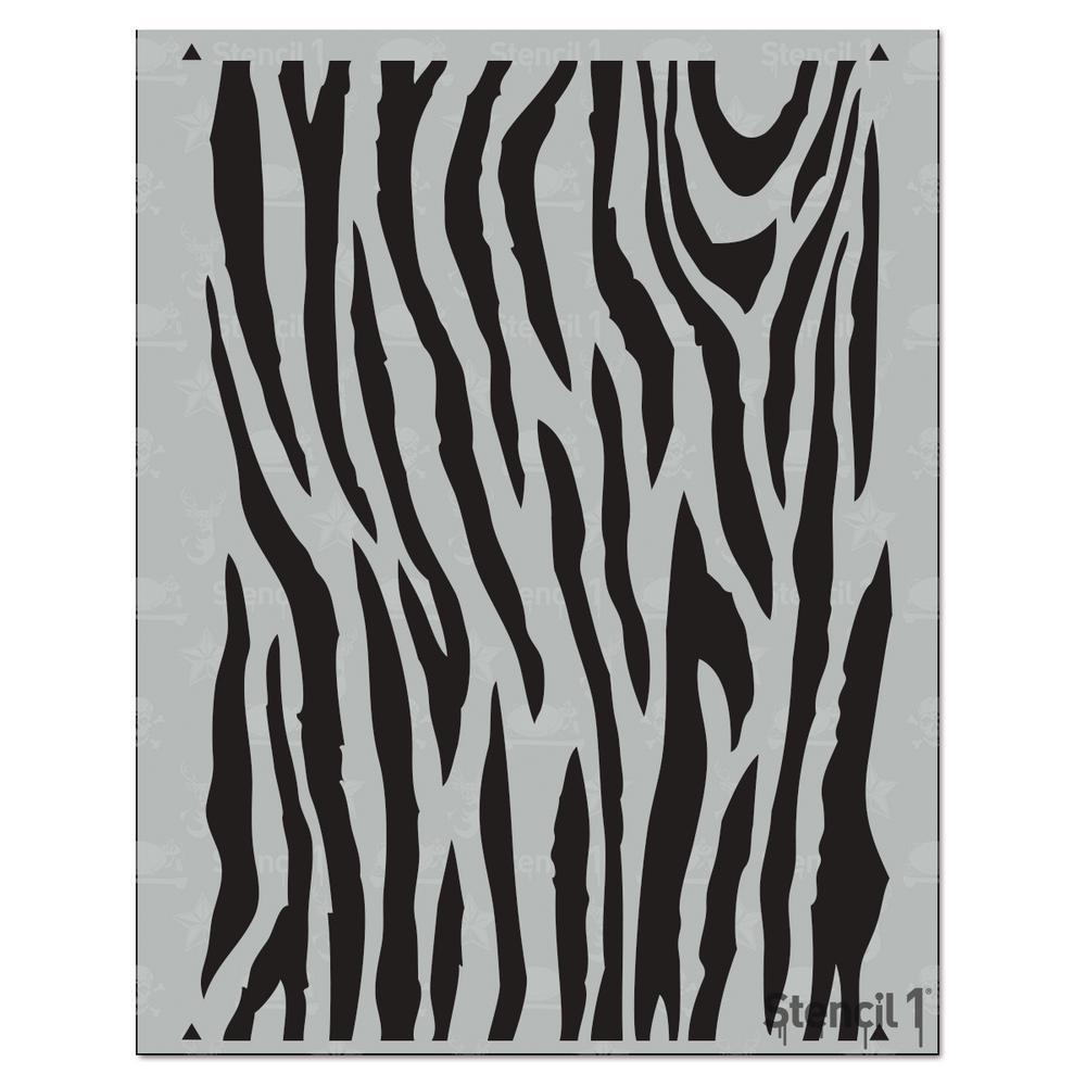 Zebra Medium Repeat Pattern Stencil