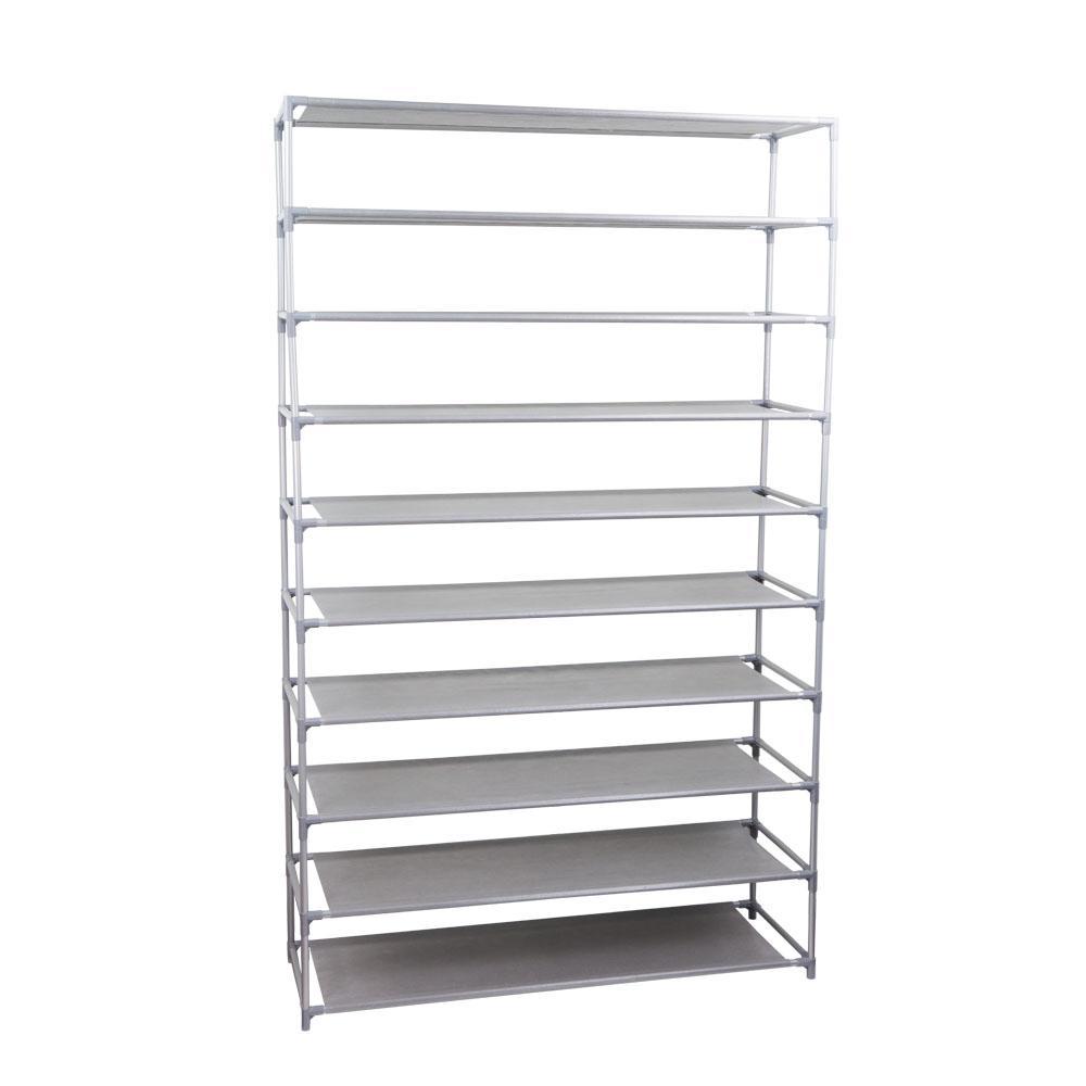 50-Pair Non Woven Shoe Organizer  sc 1 st  Home Depot & Shoe racks u0026 shelves - Shoe Storage - Closet Storage u0026 Organization ...