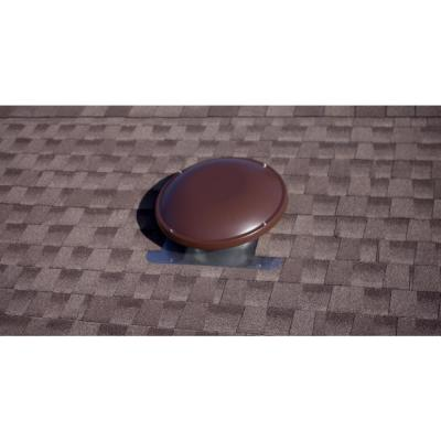 1500 CFM Brown Power Roof Mount Attic Fan with Humidistat/Thermostat