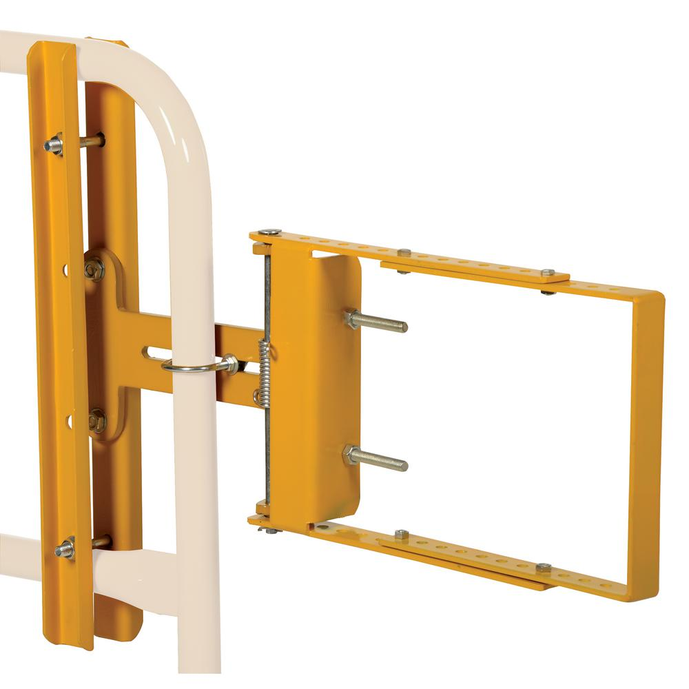 Vestil 34.75 in. x 24 in. Self-Closing Steel Gates Yellow Powder Coat Steel