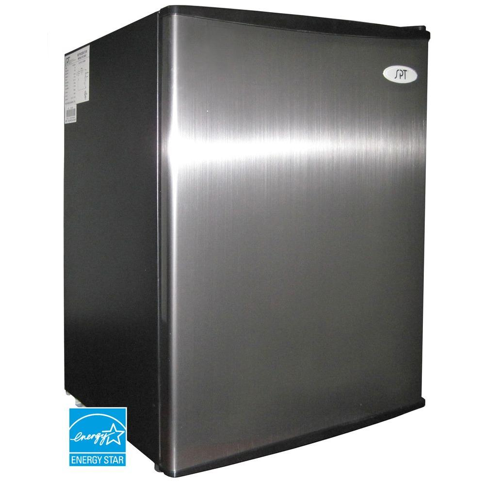 SPT 2.5 cu. ft. Mini Refrigerator in Stainless
