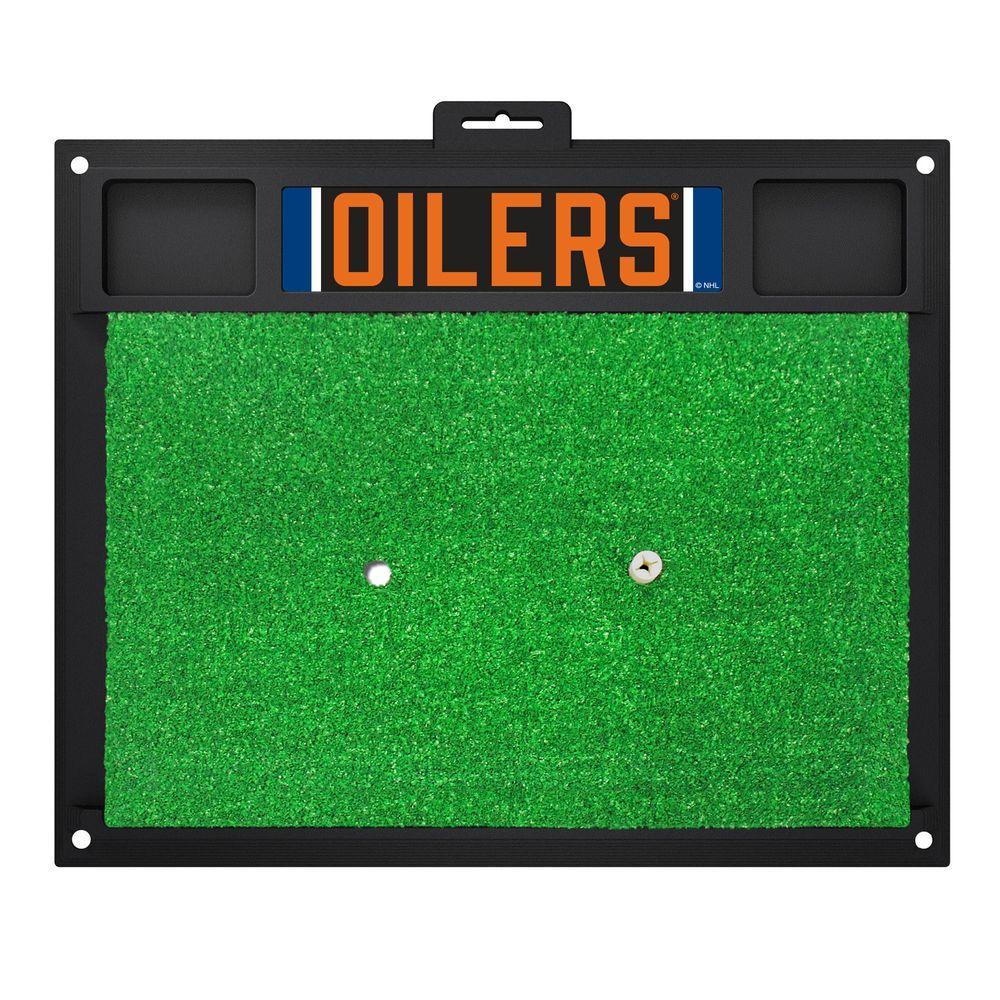 NHL - Edmonton Oilers 20 in. x 17 in. Golf Hitting Mat
