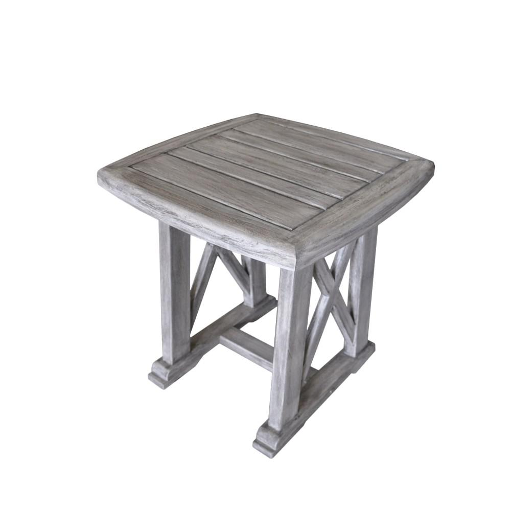 Courtyard Casual Surf Side Collection Teak Outdoor Side Table - Teak outdoor end table