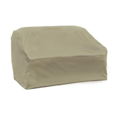 Basics Water Resistant Outdoor Patio Loveseat Cover, 55 in. L x 33 in. D x 38 in. H, Beige