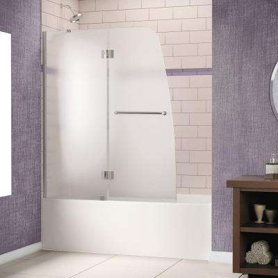 Aqua 48 in. x 58 in. Semi-Framed Pivot Tub/Shower Door in Chrome for Left-Wall Installation