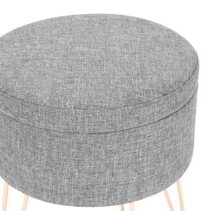Terrific Poly And Bark Hattie Gray Small Round Storage Stool Hd 362 Short Links Chair Design For Home Short Linksinfo