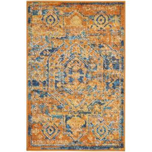 Nourison Passion Teal/Sun 1 ft. 10 inch x 2 ft. 10 inch Accent Rug by Nourison