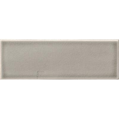 Dove Gray Handcrafted 4 in. x 12 in. Glossy Ceramic Gray Subway Tile (5 sq. ft. / case)