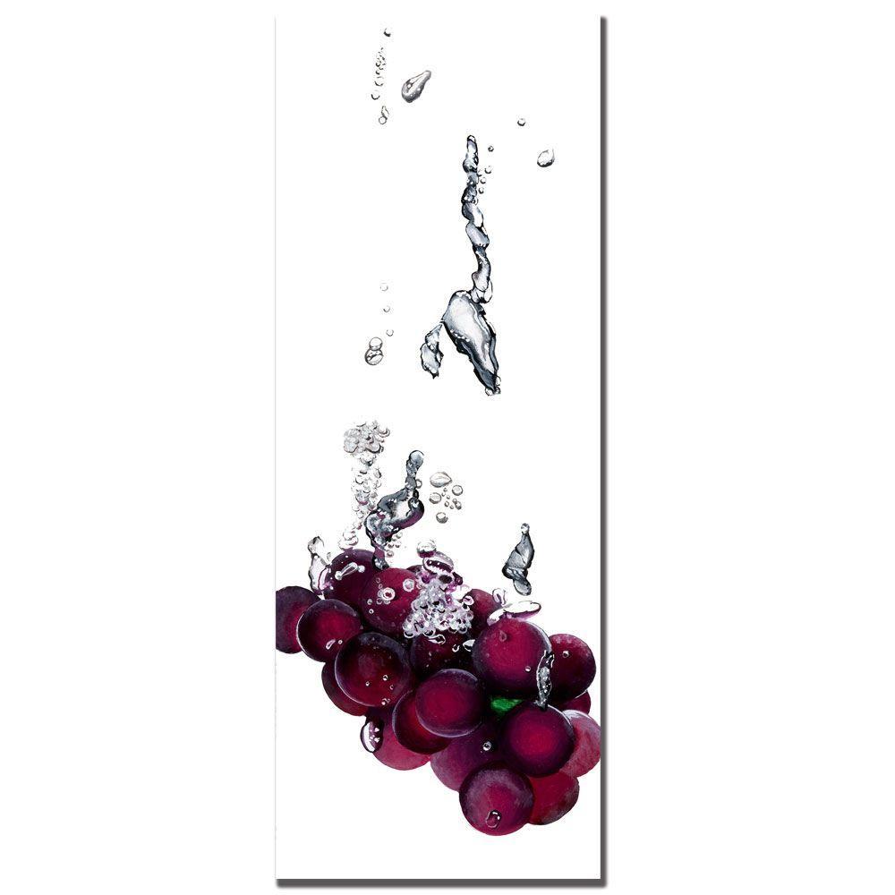 12 in. x 32 in. Grapes Splash II by Roderick Stevens Canvas Art
