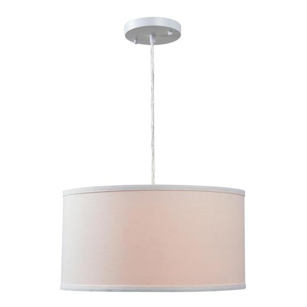 Paige 1-Light White Pendant with White Shade