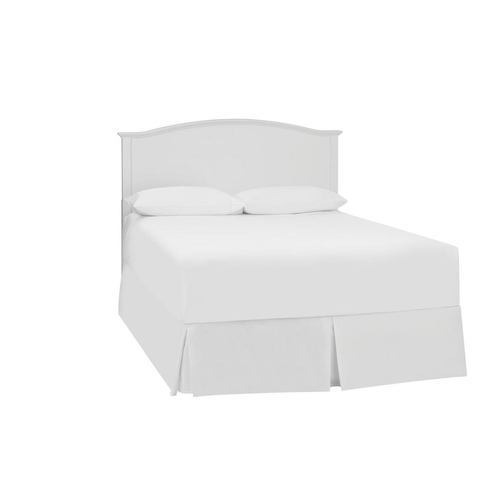 Stylewell Colemont White Wood Curved Back Queen Size Headboard (61.9 in W. x 48 in H.)