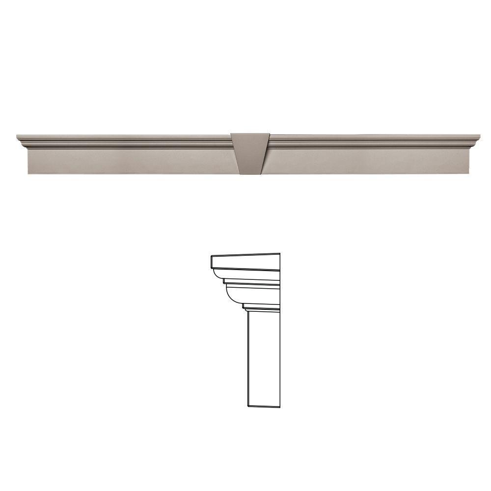 6 in. x 65-5/8 in. Flat Panel Window Header with Keystone