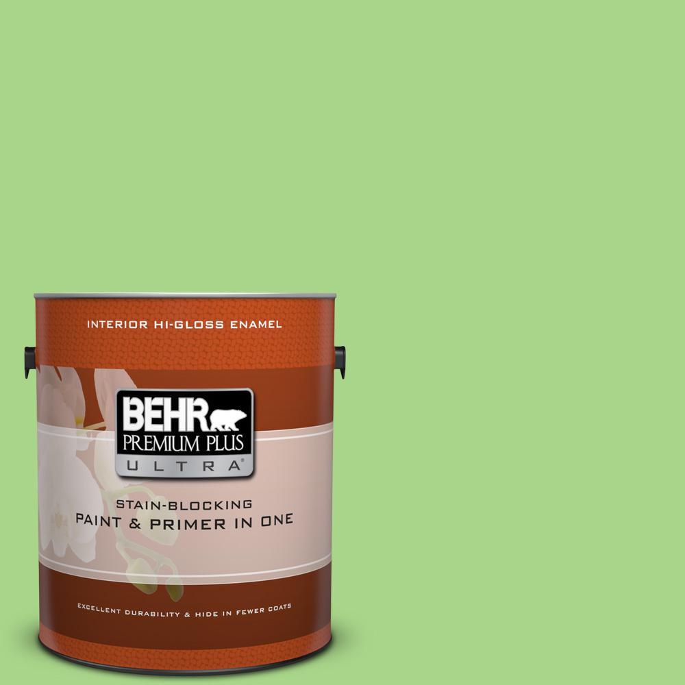 1 gal. #430B-4 Peas in a Pod Hi-Gloss Enamel Interior Paint