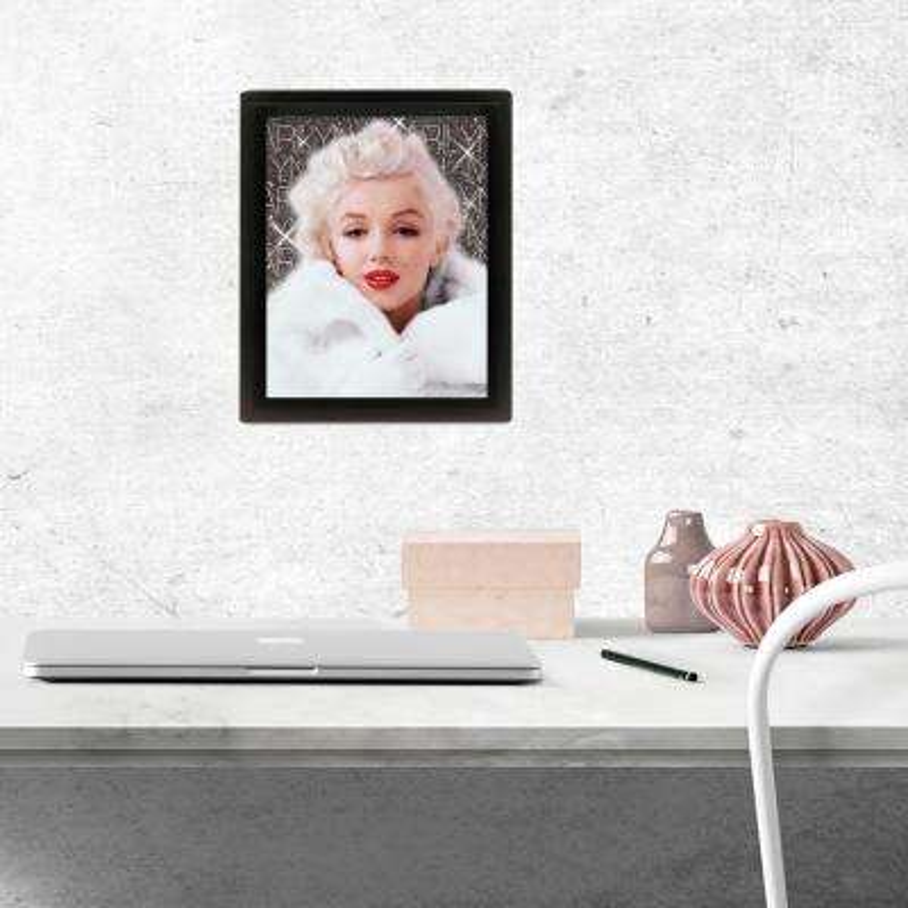 """Marilyn Monroe - White Coat"" Wall Art"