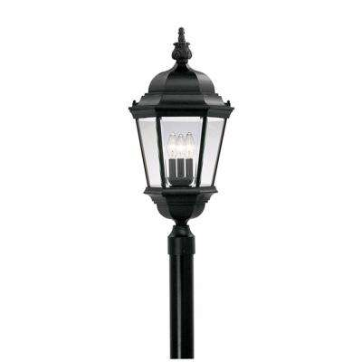 Farrell Collection 3-Light Outdoor Black Post Lantern