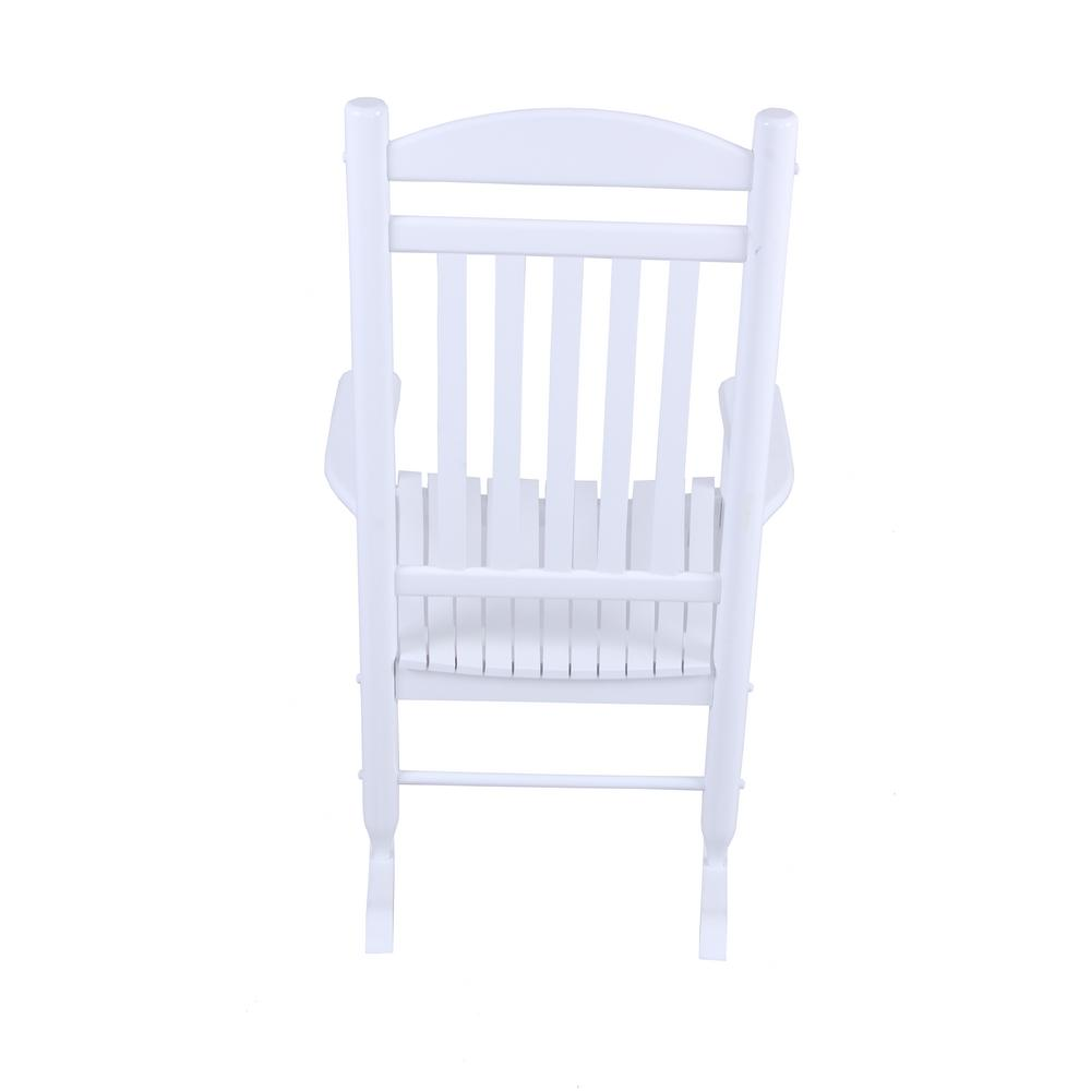 Admirable Hampton Bay Glossy White Wood Outdoor Rocking Chair Pdpeps Interior Chair Design Pdpepsorg