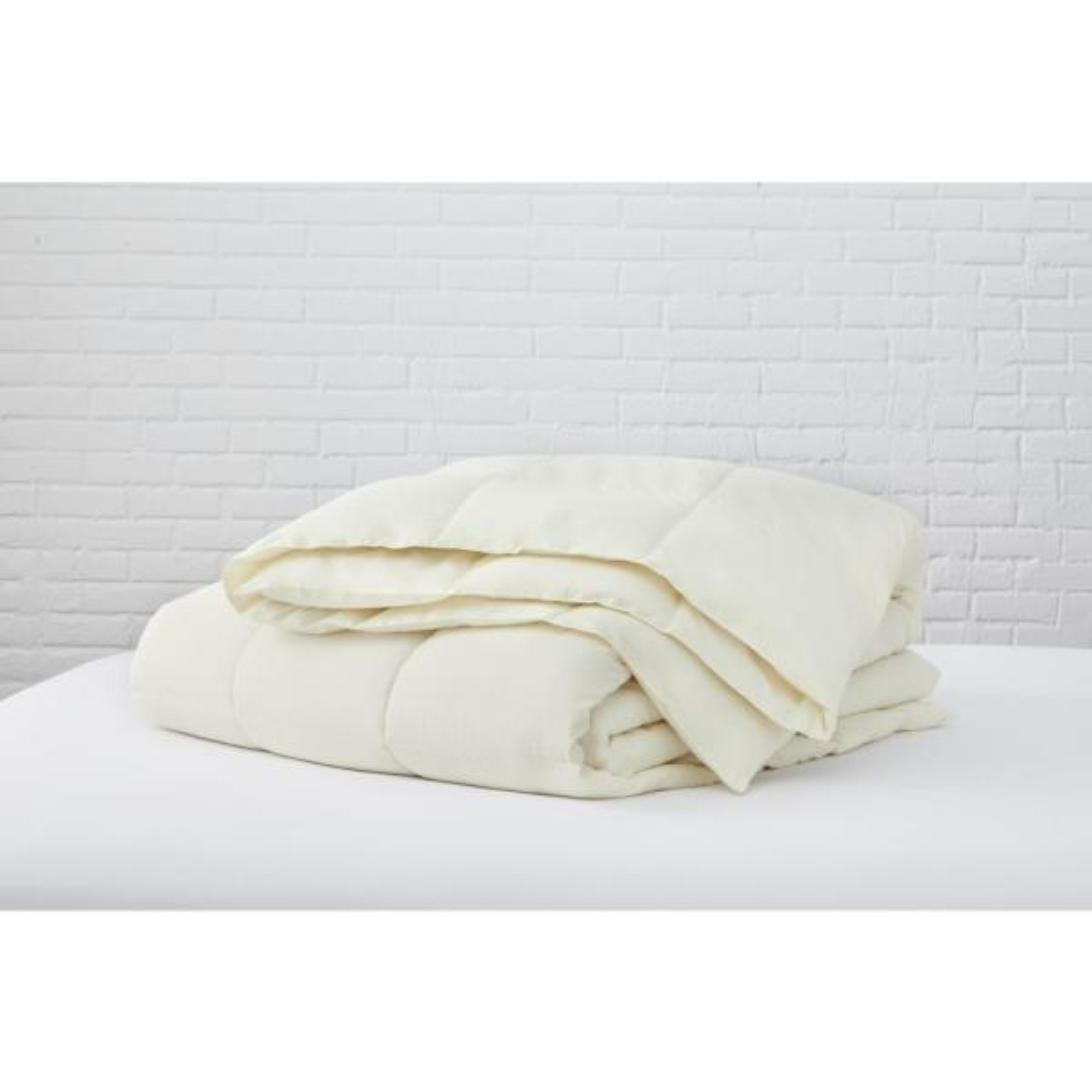 Ivory Microfiber King Comforter