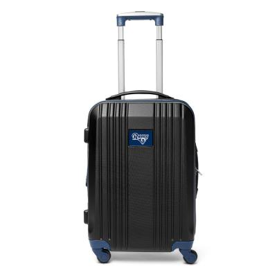 Denco NFL Los Angeles Rams Navy 21 in. Hardcase 2-Tone Luggage Carry-On Spinner Suitcase, Black