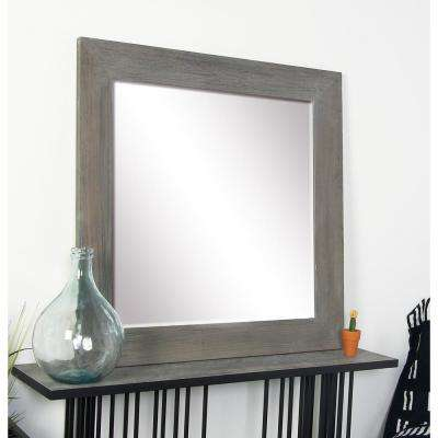Square Stained Gray Dresser Wall Mirror