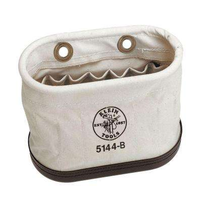 7 in. Aerial-Basket Oval Tool Bucket with 15 Interior Pockets (no hooks)
