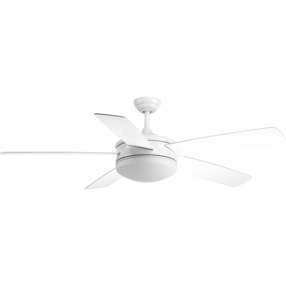 progress lighting fresno collection 60 in led indoor white ceiling