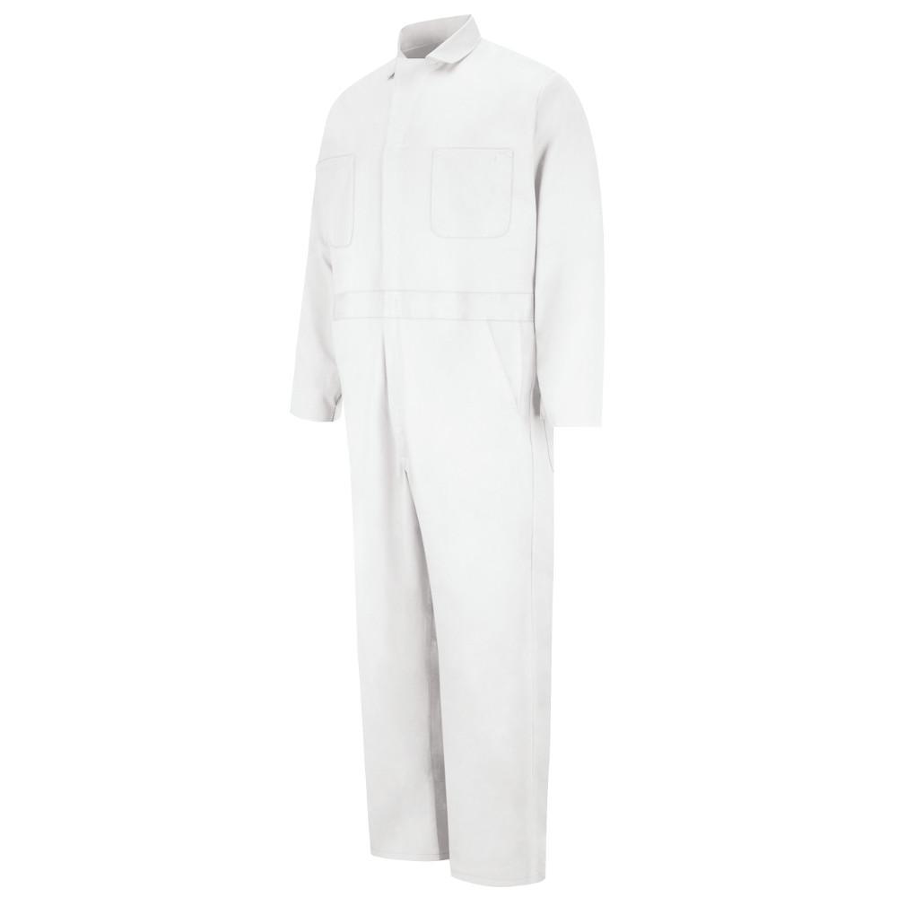 Red Kap Uniforms Men's Size 62 White Button Front Cotton ...