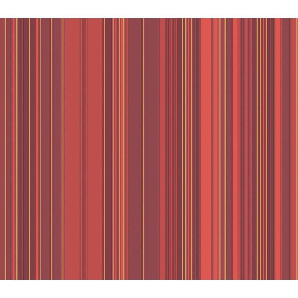 The Wallpaper Company 56 sq. ft. Red Metallic Stripe Wallpaper