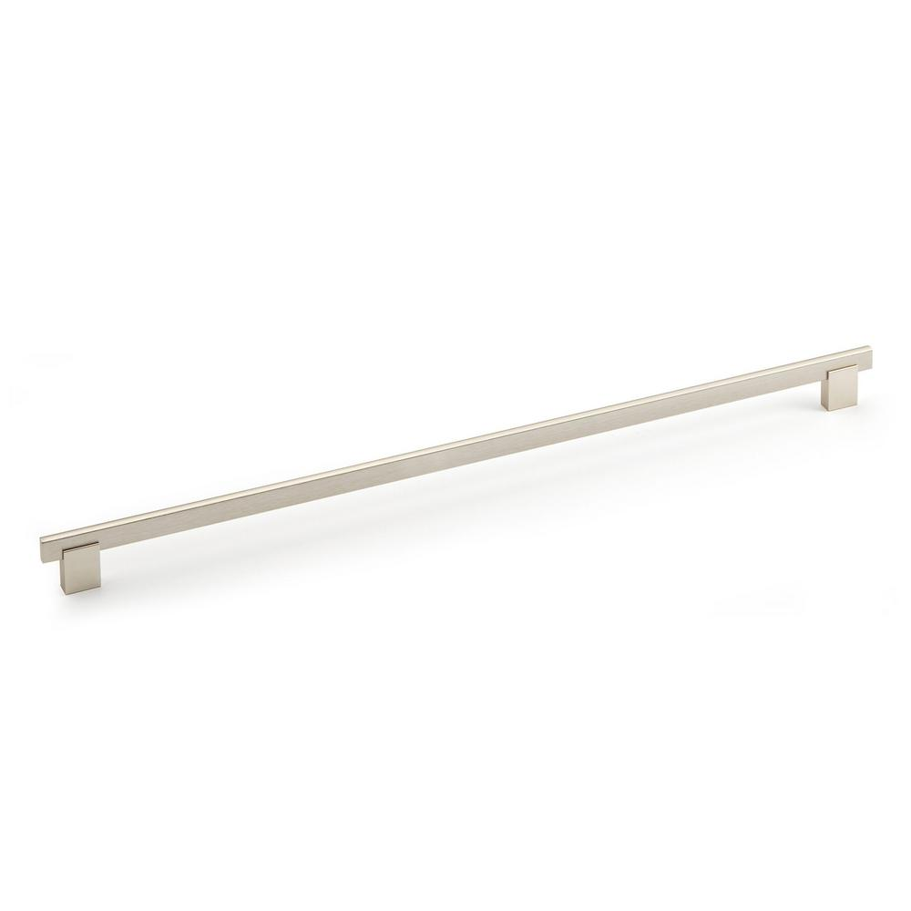 richelieu hardware 19 in 480 mm brushed nickel cabinet pull