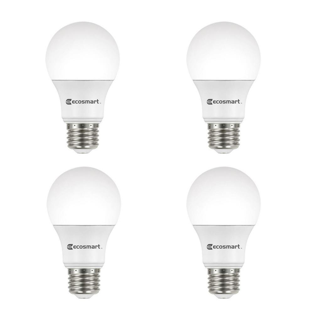 Home Depot Led Light Bulbs: EcoSmart 60-Watt Equivalent A19 Dimmable Energy Star LED