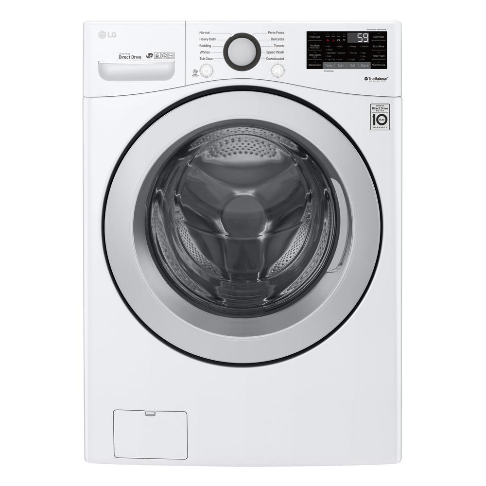 4.5 cu.ft. Ultra Large Capacity Front Load Washer with Coldwash Technology and Wi-Fi Connectivity in White