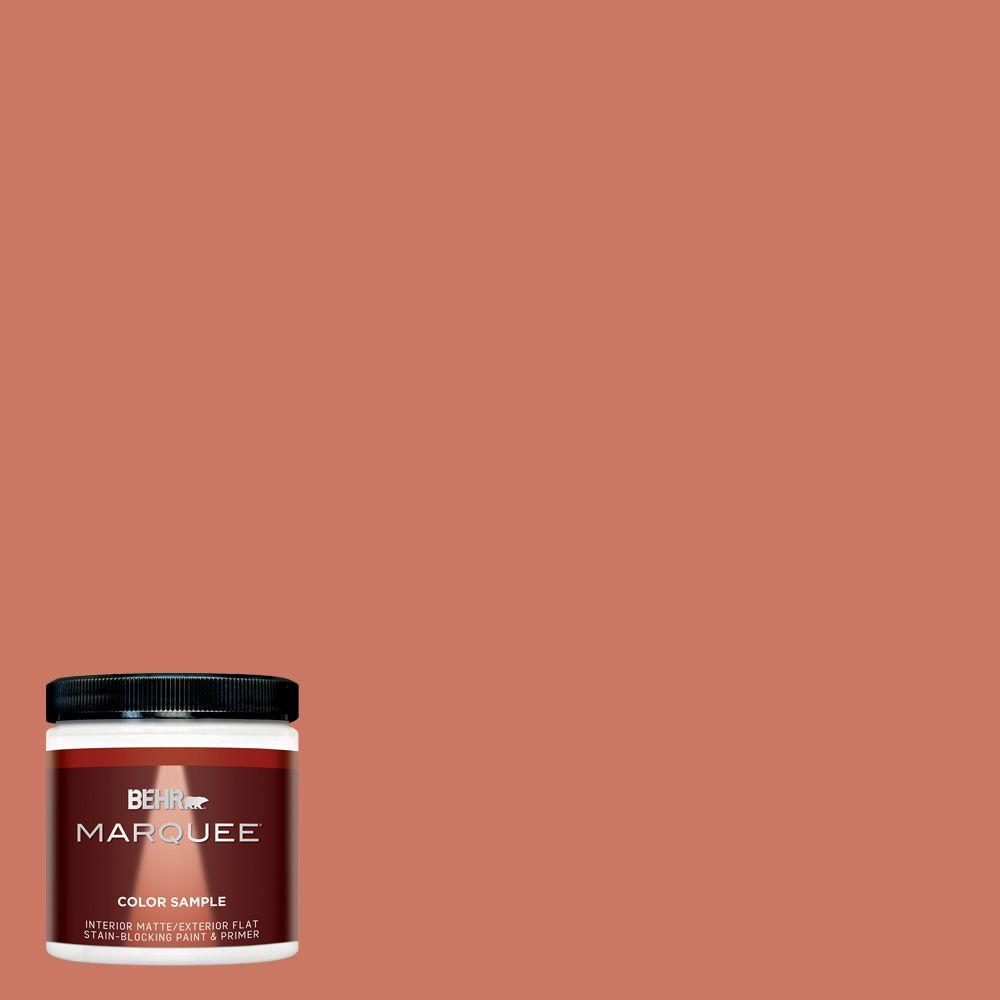 BEHR MARQUEE 8 oz. #MQ4-33 Aloe Blossom One-Coat Hide Matte Interior/Exterior Paint and Primer in One Sample
