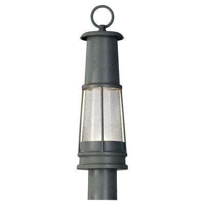 Chelsea Harbor 1-Light Storm Cloud Outdoor Post Light