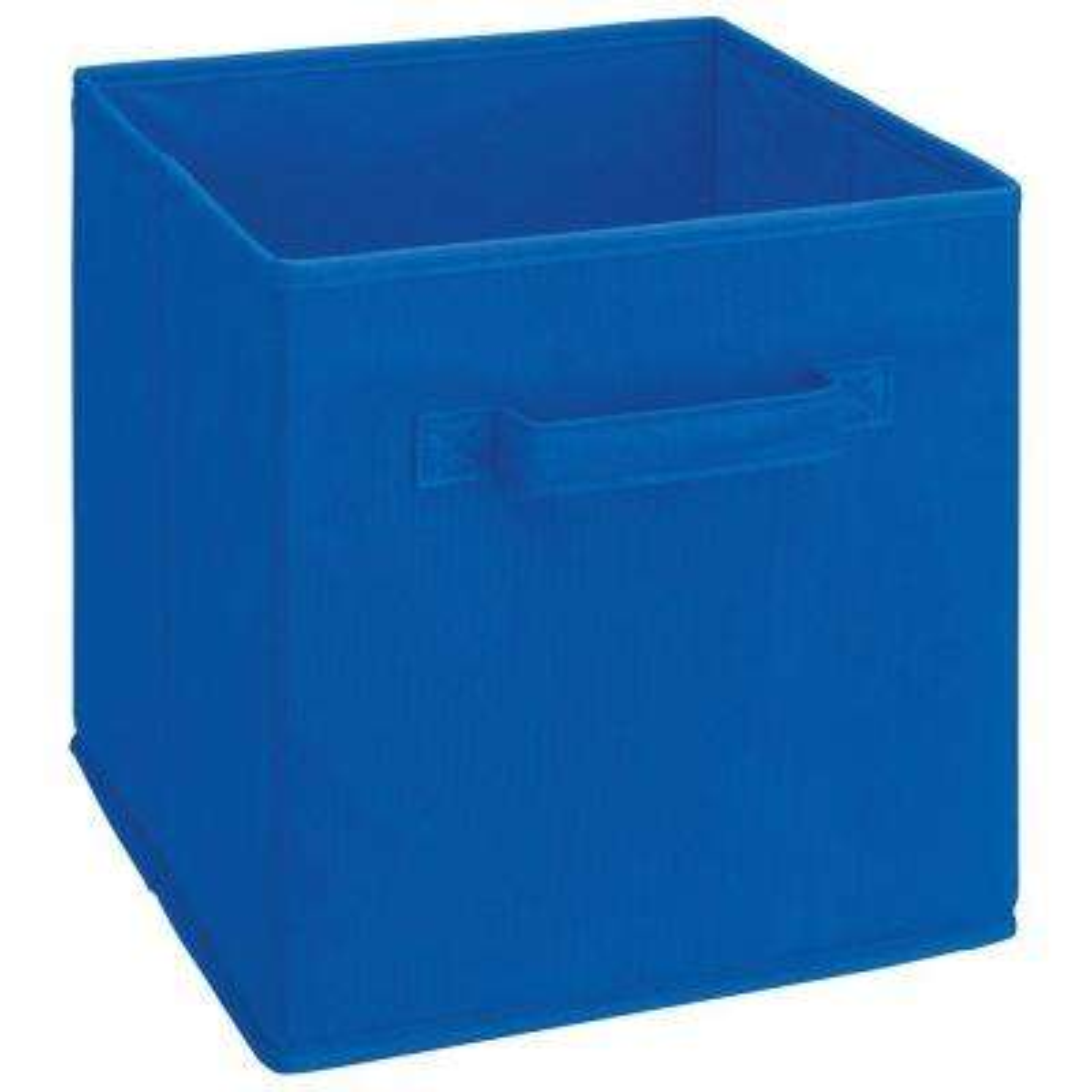 Cubeicals 11 in. H x 10.5 in. W x 10.5 in. D Fabric Storage Bin in Royal Blue