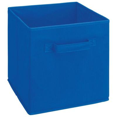 11 in. D x 11 in. H x 11 in. W Royal Blue Fabric Cube Storage Bin