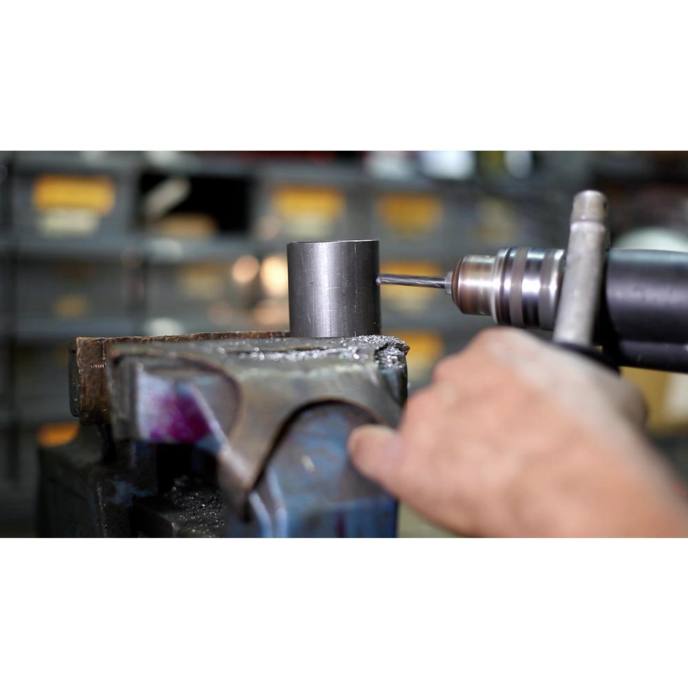 Drillco Drill Bit Bright /& Black High Speed Steel 118/° Point 2 Pack 41//64 1//2 Shank S/&D Drills