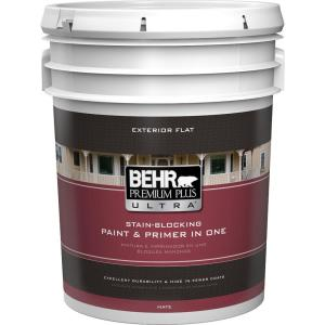 Merveilleux Ultra Pure White Flat Exterior Paint And Primer In One · BEHR Premium Plus  ...
