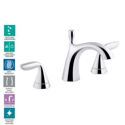 Willamette 8 in. Widespread 2-Handle Low Flow Bathroom Faucet in Polished Chrome