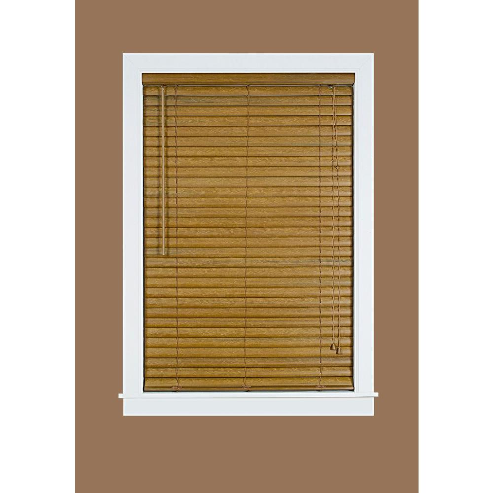 Luna Woodgrain 2 In Light Filtering Vinyl Mini Blind 33
