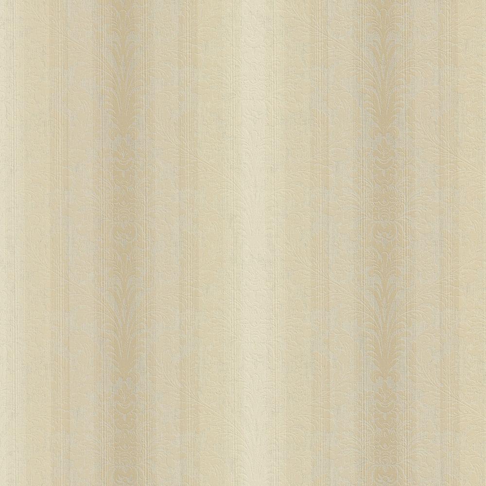 Brewster 8 in. W x 10 in. H Stripe Damask Wallpaper Sample
