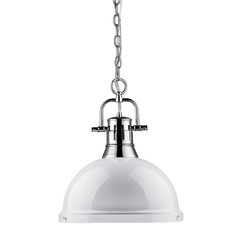 Wyman Collection 1-Light Chrome Pendant