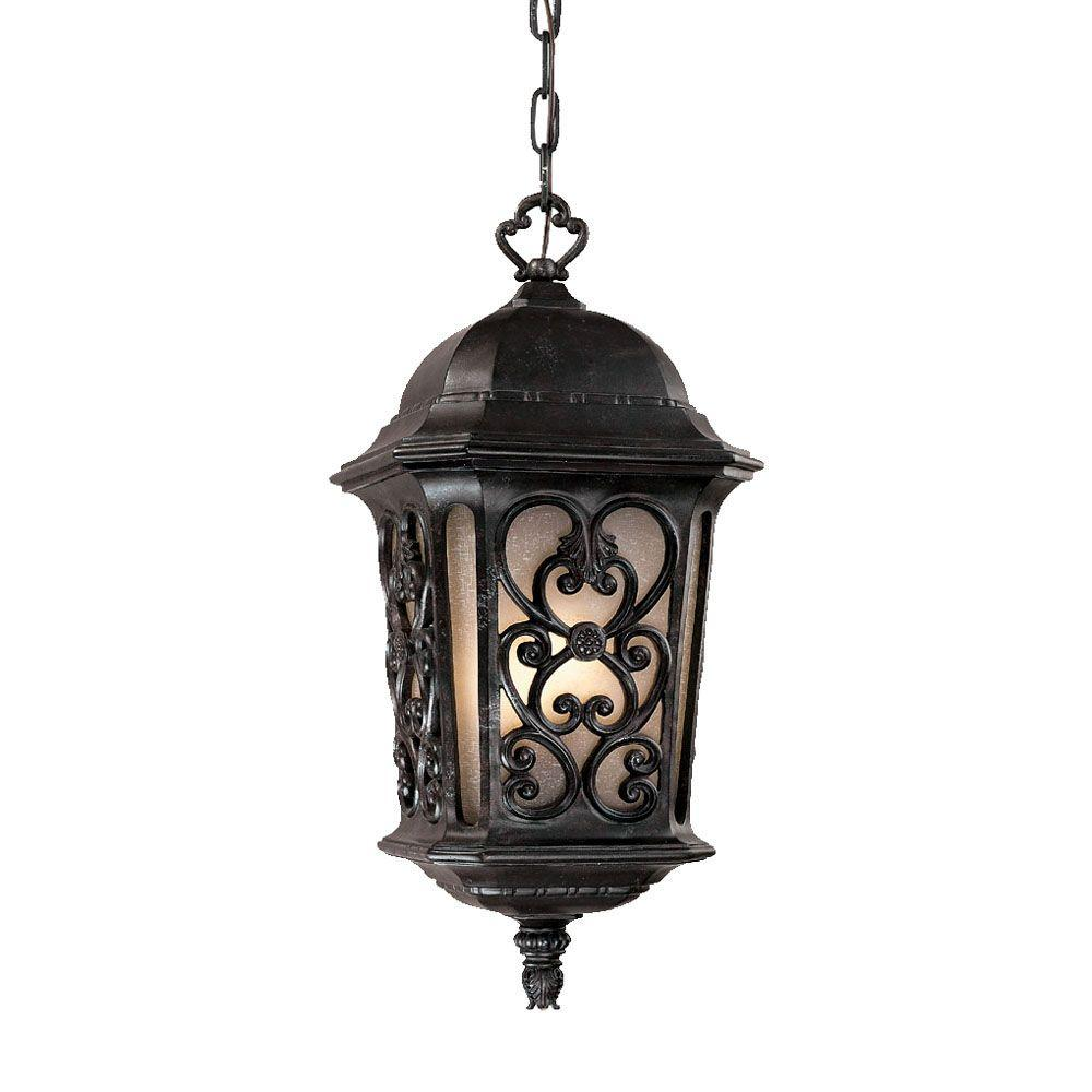 Acclaim Lighting Manorgate Collection Hanging Lantern 4-Light Outdoor Marbelized Mahogany Light Fixture