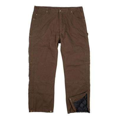 Men's 40 in. x 32 in. Bark Cotton Washed Duck Outer Pants