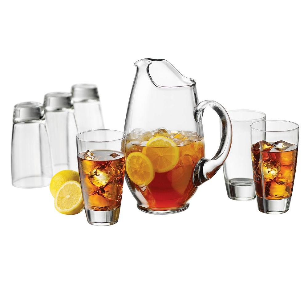 Libbey Classic Pitcher Set in Clear 7-Piece Set