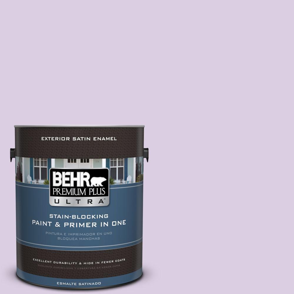 BEHR Premium Plus Ultra 1-gal. #660C-2 Violet Mist Satin Enamel Exterior Paint