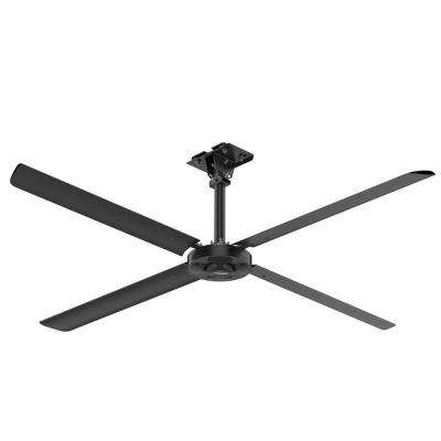 XP 10 ft. 110-Volt Single Phase HVLS Indoor Anodized Black Ceiling Fan with Wall Control
