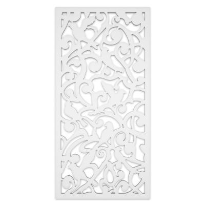 Dove 2 ft. x 4 ft. White Vinyl Decorative Screen Panel (Pack of 2)