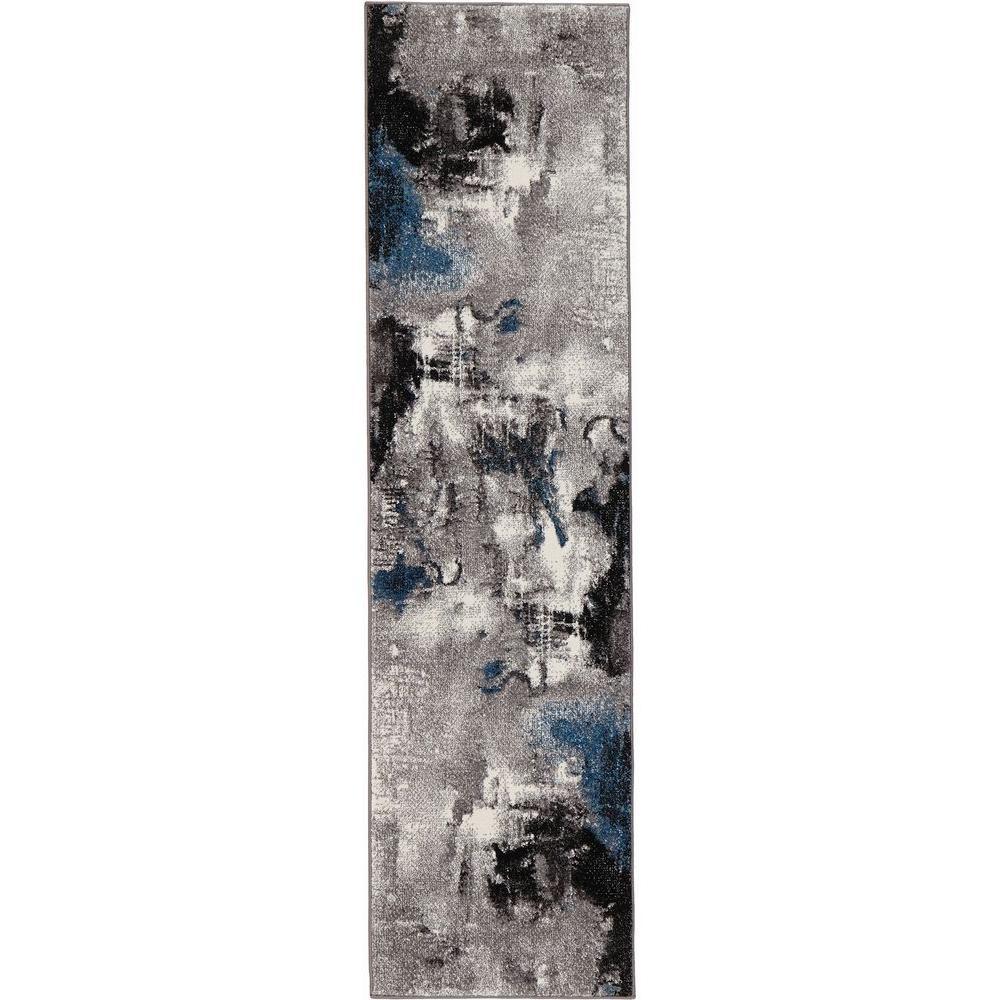 Journey Gray 2 ft. x 7 ft. Runner Rug
