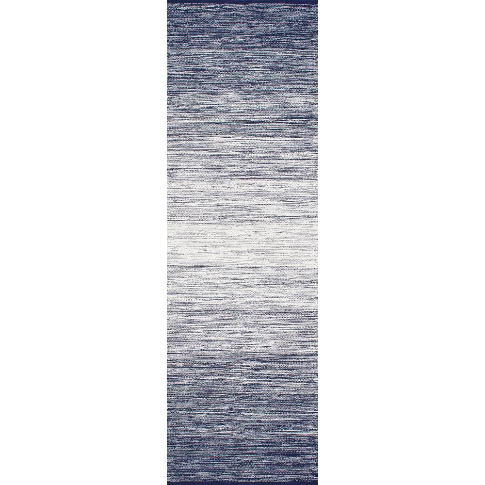 Cayla Flatweave Blue 2 ft. x 10 ft. Runner Rug